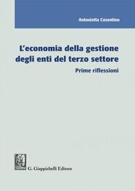 L'economia della gestione degli enti del terzo settore - Librerie.coop