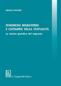 Fenomeno migratorio e categorie della statualità - Librerie.coop
