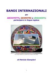 Bandi internazionali per architetti, geometri e urbanisti: partecipare in lingua inglese - copertina