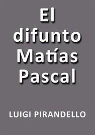 El difunto Matias Pascal - copertina
