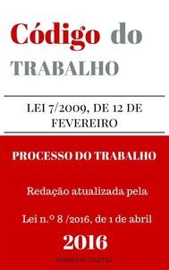 Código do Trabalho e do Processo do Trabalho - copertina