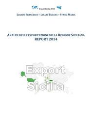 Analisi delle esportazioni della Regione Siciliana report 2014 - copertina