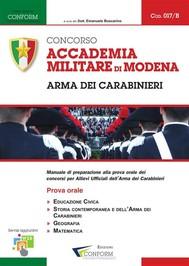 017B | Concorso Accademia Militare di Modena Arma dei Carabinieri (Prova Orale) - copertina