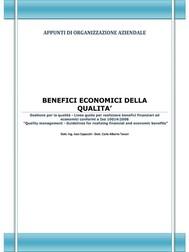 Benefici economici della qualità - copertina