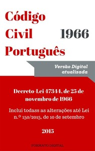 Código Civil Português - copertina
