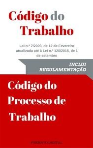 Código do Trabalho e do Processo de trabalho - copertina
