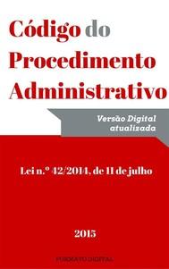 Código do Procedimento Administrativo (2015) - copertina