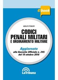 Codici penali militari e ordinamento militare - copertina