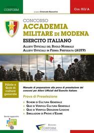 013A | Concorso Accademia Militare di Modena Esercito Italiano (Prova di Preselezione) - copertina