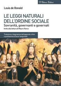 Le leggi naturali dellordine sociale - Librerie.coop