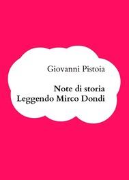 Note di storia. Leggendo Mirco Dondi - copertina