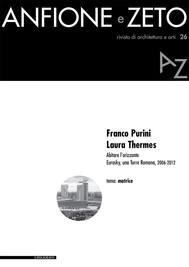 Anfione e Zeto. Rivista di architettura e arti, 26, 2016 - copertina