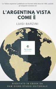 L'Argentina vista come è - copertina