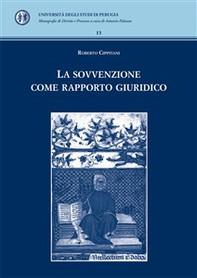 La sovvenzione come rapporto giuridico - Librerie.coop