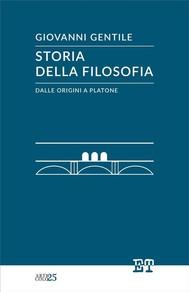 Storia della filosofia dalle origini a Platone - copertina