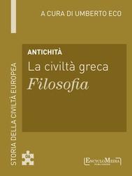 Antichità - La civiltà greca - Filosofia - copertina