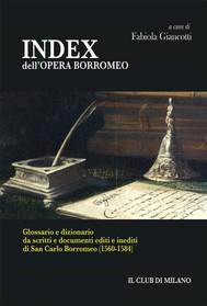 INDEX dell'OPERA BORROMEO - copertina