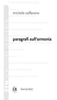 Paragrafi sull'armonia - copertina