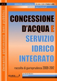Concessione d'acqua e servizio idrico integrato - copertina