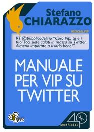 Manuale per Vip su Twitter - copertina