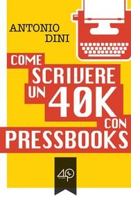 Come scrivere un 40k con PressBooks - copertina