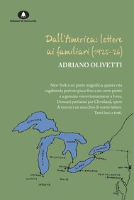 Dall'America: lettere ai familiari (1925-1926) - copertina