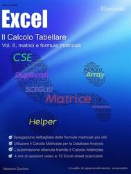 Il Calcolo Tabellare, Vol. II: matrici e formule matriciali - copertina