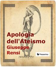 Apologia dell'Ateismo - copertina