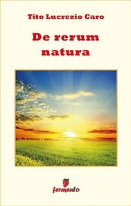 De rerum natura - testo in italiano - copertina
