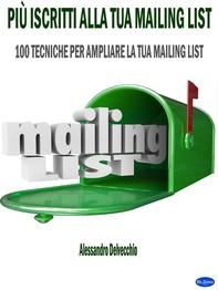 Più Iscritti alla Tua Mailing List - Librerie.coop