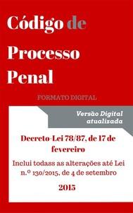 Código de Processo Penal - 2016 - copertina