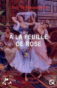 A la feuille de rose, maison turque - copertina