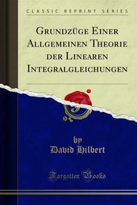 Grundzüge Einer Allgemeinen Theorie der Linearen Integralgleichungen - Librerie.coop