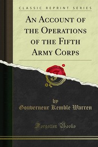 An Account of the Operations of the Fifth Army Corps - Librerie.coop