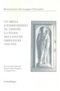 Un siècle d'enseignement du chinois à l'École des langues orientales - Librerie.coop