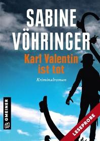 Leseprobe Karl Valentin ist tot - Librerie.coop