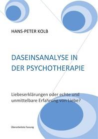 Daseinsanalyse in der Psychotherapie - Librerie.coop