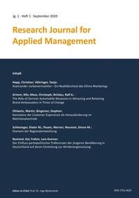 Research Journal for Applied Management - Jg. 1, Heft 1 - Librerie.coop