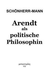 Arendt als politische Philosophin - Librerie.coop