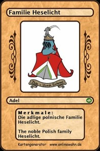Die adlige polnische Familie Heselicht. The noble Polish family Heselicht. - Librerie.coop