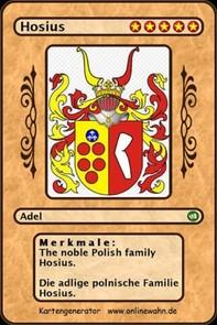 The noble Polish family Hosius. Die adlige polnische Familie Hosius. - Librerie.coop