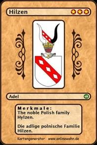The noble Polish family Hylzen. Die adlige polnische Familie Hilzen. - Librerie.coop