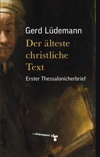 Der älteste christliche Text - Librerie.coop