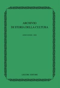 Archivio di storia della cultura  Anno XXXIII - 2020 - Librerie.coop