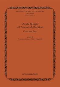 Oswald Spengler e il  Tramonto dell' Occidente - Librerie.coop