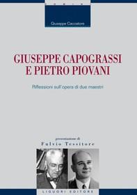 Giuseppe Capograssi e Pietro Piovani - Librerie.coop