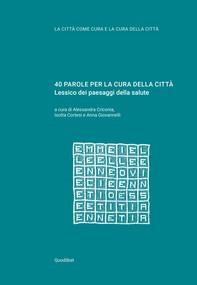 40 PAROLE PER LA CURA DELLA CITTÀ - Librerie.coop