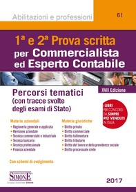 Prima e Seconda Prova Scritta Commercialista ed Esperto Contabile - Librerie.coop