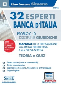 32 Esperti Banca d'Italia - Profili C e D - Discipline giuridiche - Teoria e Quiz - Librerie.coop
