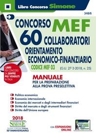 Concorso MEF - 60 Collaboratori Economico Finanziario - Manuale - Librerie.coop